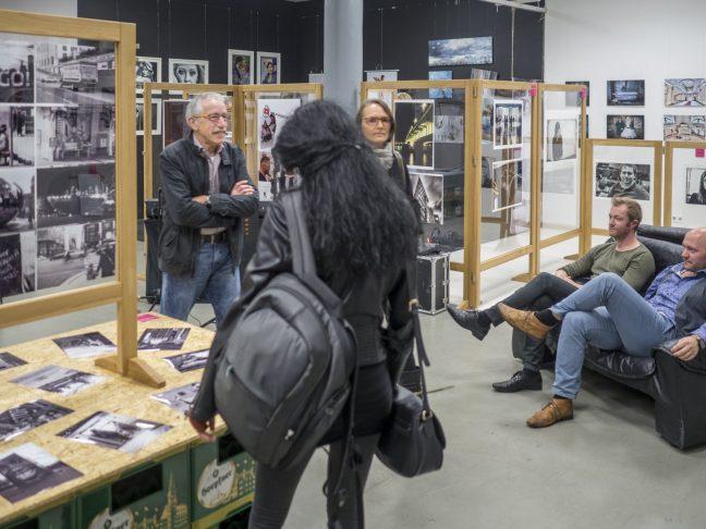 Aufbau der Lichtwert Fotoausstellung